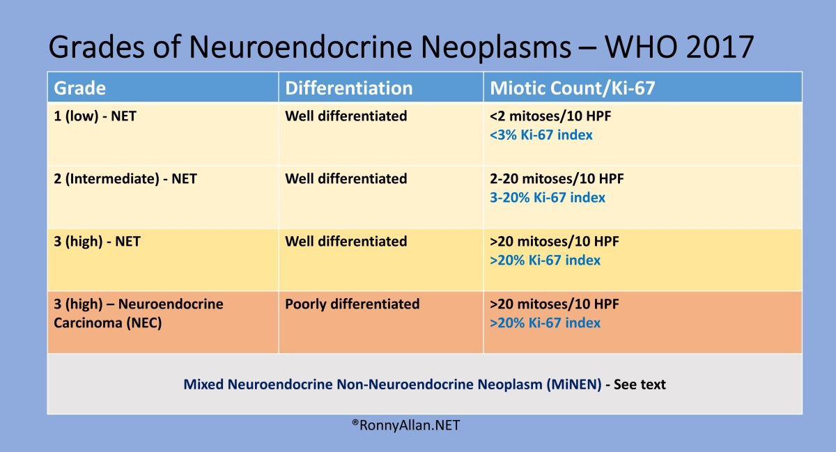 Neuroendocrine Neoplasms - Grade and Stage (incorporating WHO 2017 changes)